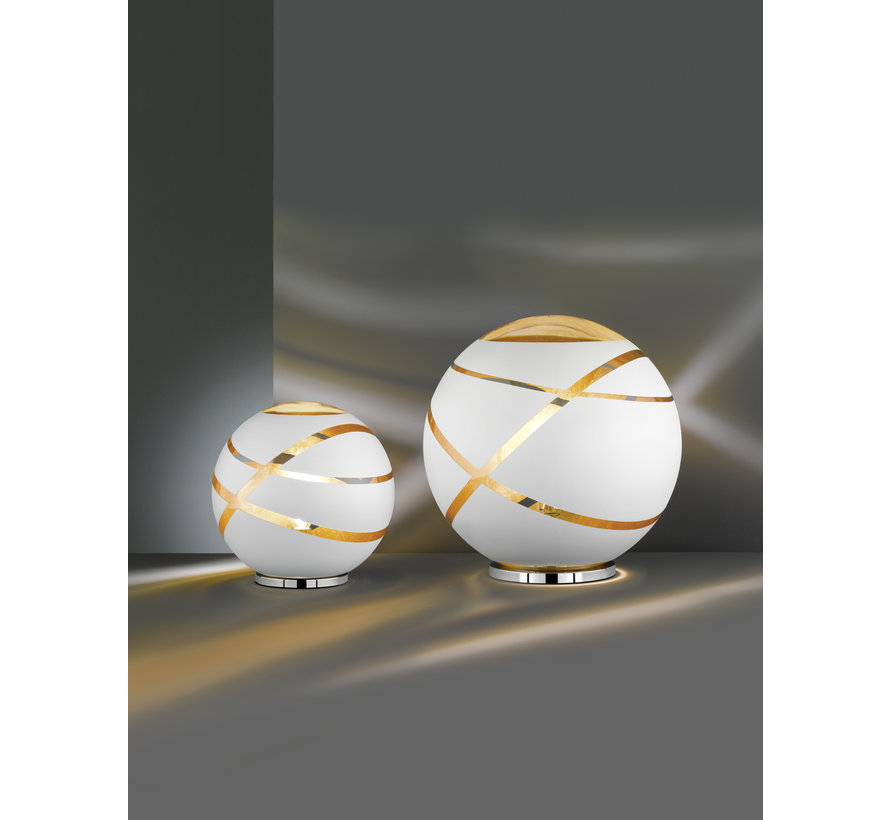 Tafellamp Faro - Wit/Goud