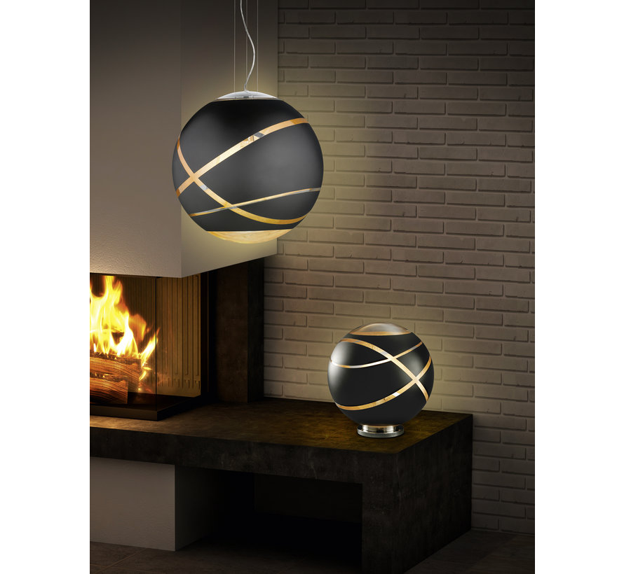 Tafellamp Faro - Zwart/Goud