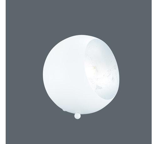 Trio Leuchten Tafellamp Billy - Wit/Zilver