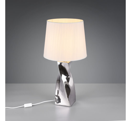 Trio Leuchten Tafellamp - Abeba - Wit/Chroom