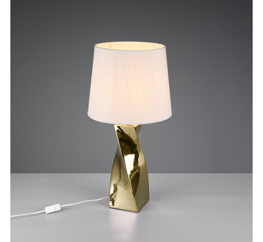 Tafellamp - Abeba - Wit/Goud