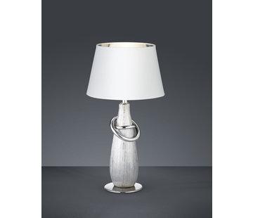 Trio Leuchten Tafellamp Thebes - Wit/Zilver