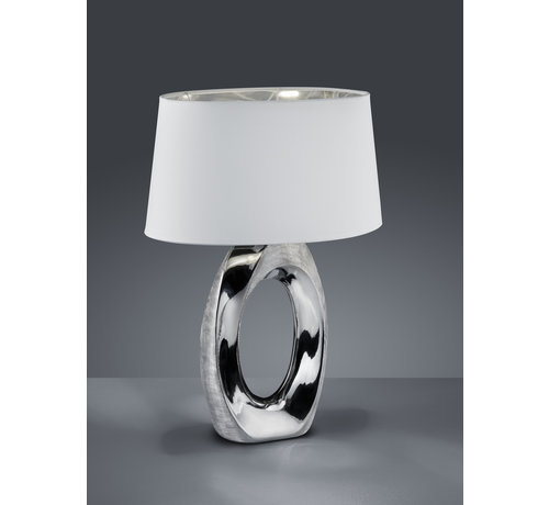 Trio Leuchten Tafellamp Taba - Wit/Chroom