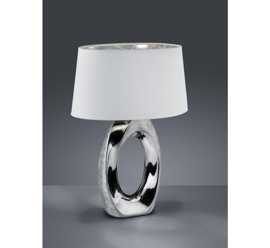Tafellamp Taba - Wit/Chroom