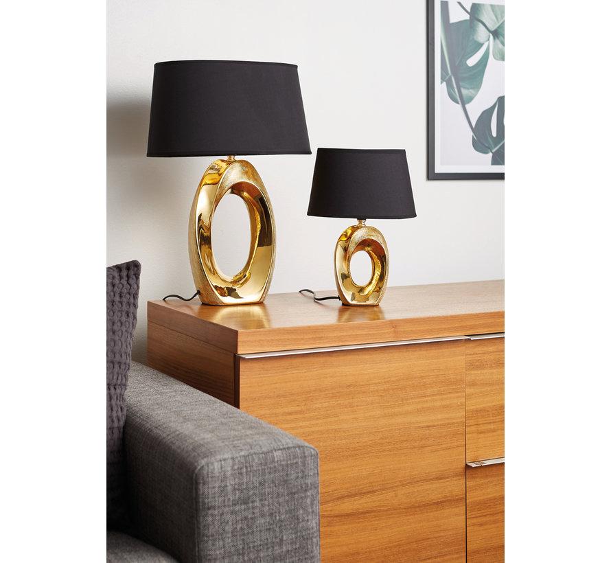 Tafellamp Taba - Zwart/Goud