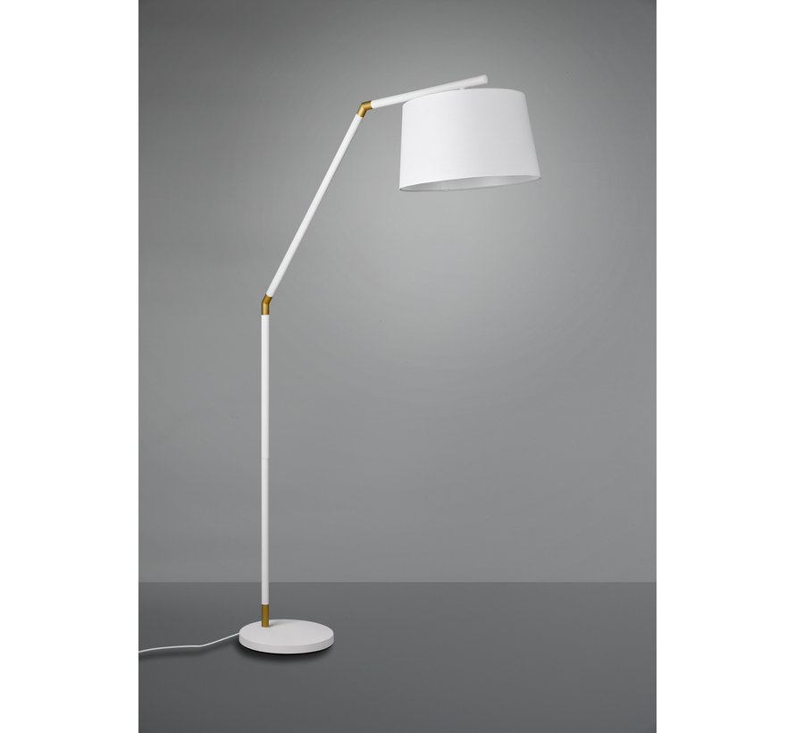 Vloerlamp Tracy - Wit/Goud