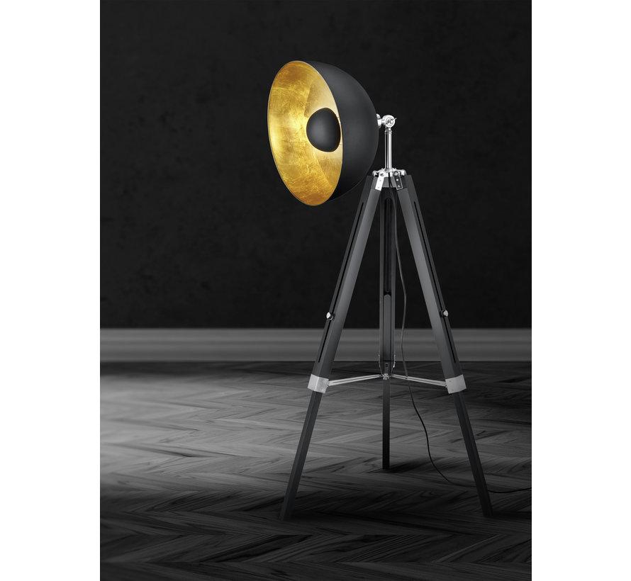 Vloerlamp Liege - Zwart/Goud