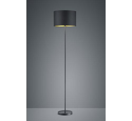 Trio Leuchten Vloerlamp Hostel - Zwart/Goud