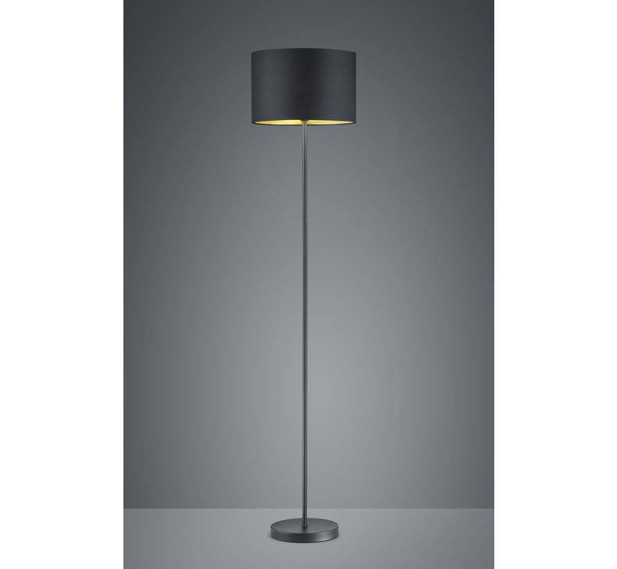 Vloerlamp Hostel - Zwart/Goud