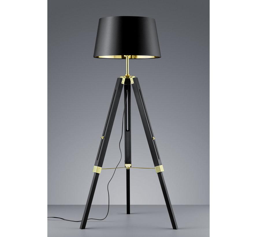 Vloerlamp Gent - Zwart/Goud