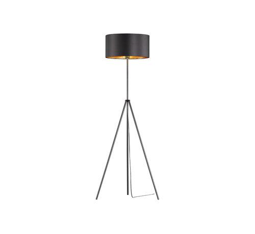 Trio Leuchten Vloerlamp Daniel - Zwart/Goud