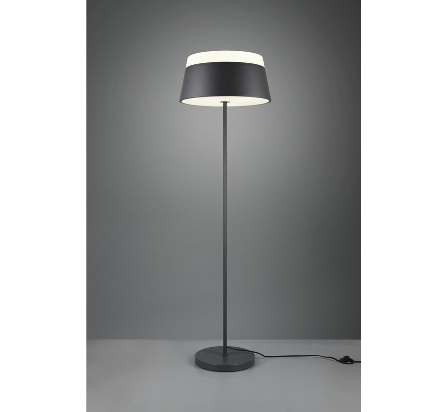 Vloerlamp Baroness - Antraciet/Wit