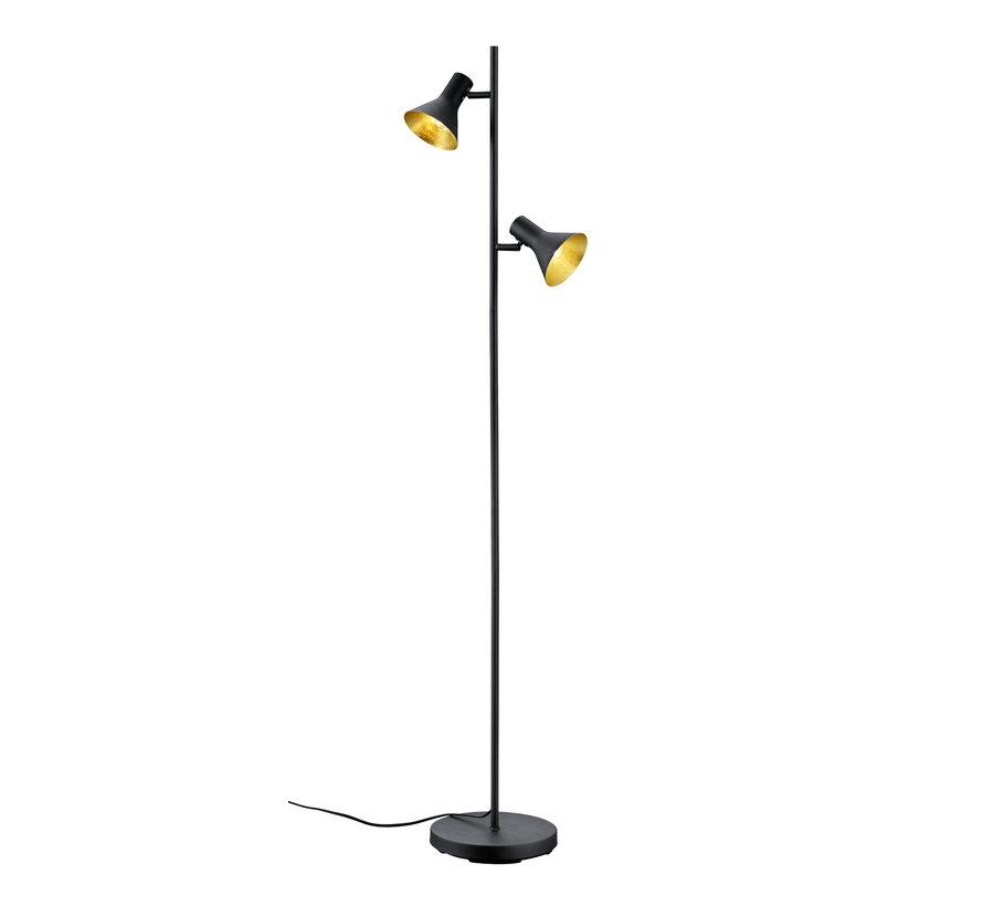 Vloerlamp Nina - Zwart/Goud