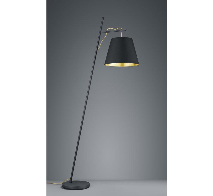 Vloerlamp Andreus - Zwart/Goud
