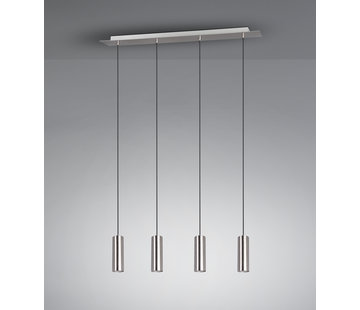 Trio Leuchten Hanglamp Marley 4L - Mat Staal