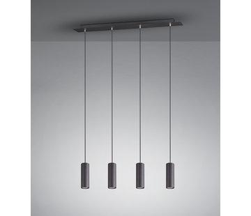 Trio Leuchten Hanglamp Marley 4L - Zwart