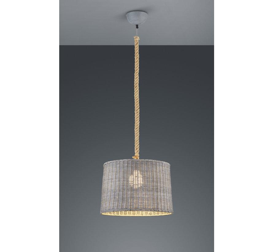 Hanglamp Rotin - Grijs