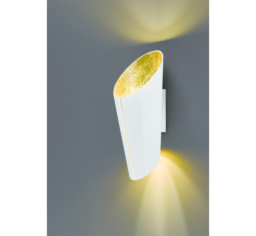 Wandlamp Madeira - Wit/Goud