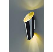 Trio Leuchten Wandlamp Madeira - Zwart/Goud
