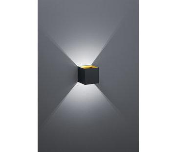 Trio Leuchten Wandlamp Louis - Zwart/Goud