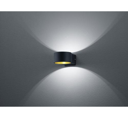 Trio Leuchten Wandlamp Lacapo - Zwart/Goud