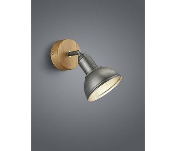 Trio Leuchten Wandlamp Delhi - Hout/Zilver