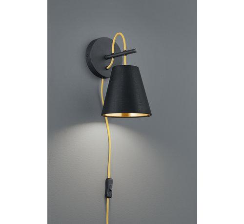 Trio Leuchten Wandlamp Andreus - Zwart/Goud
