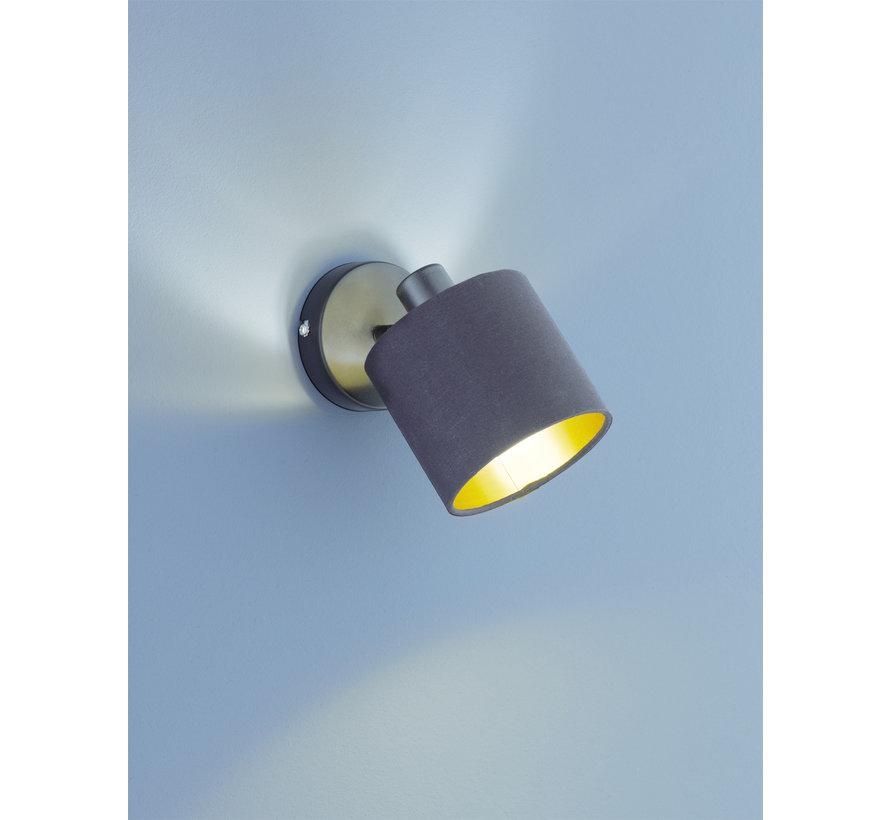 Wandlamp Tommy 1L - Zwart/Goud