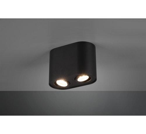 Trio Leuchten Plafondlamp Cookie 2L - Zwart