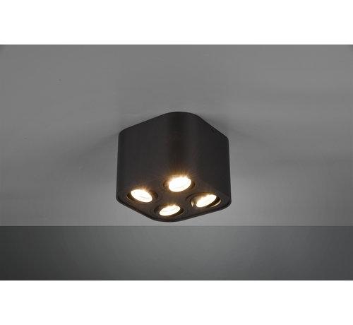 Trio Leuchten Plafondlamp Cookie 4L - Zwart