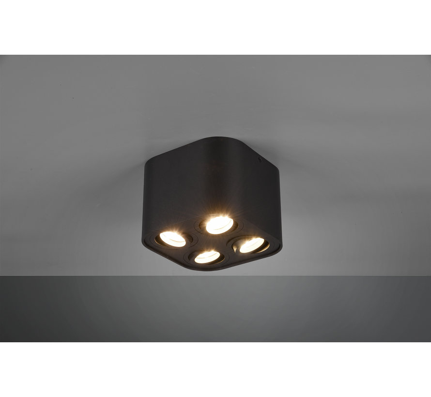 Plafondlamp Cookie 4L - Zwart