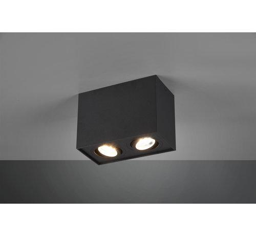 Trio Leuchten Plafondlamp Biscuit 2L - Zwart