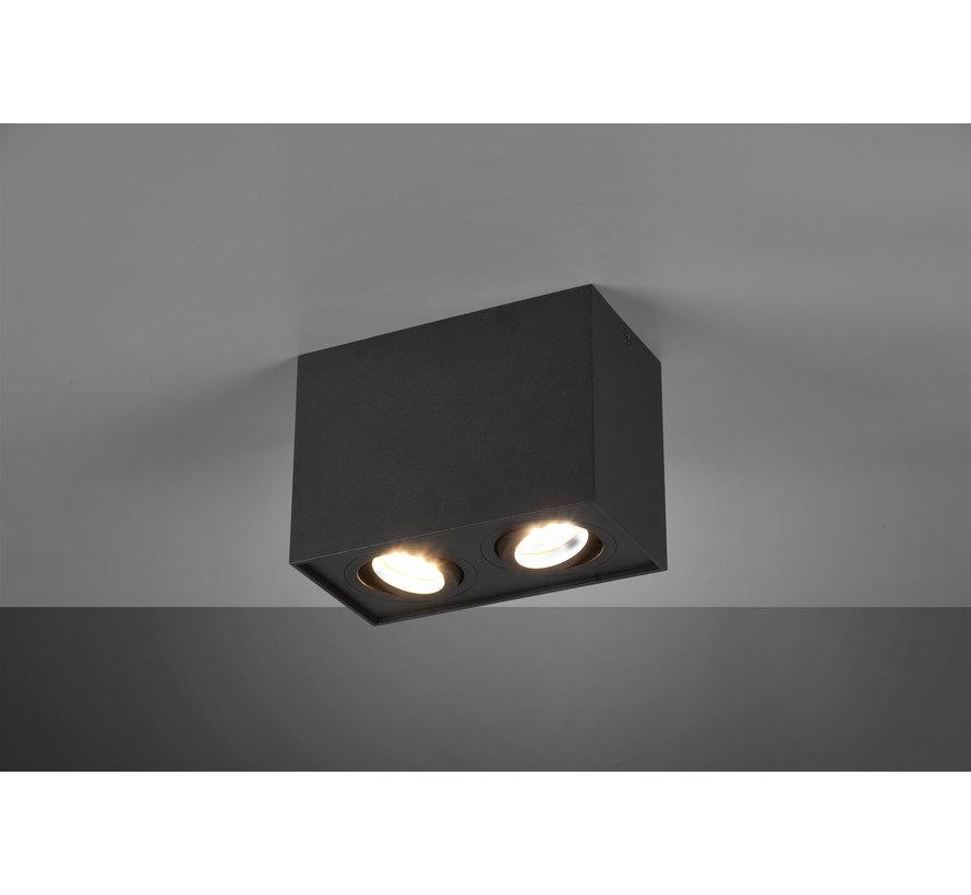 Plafondlamp Biscuit 2L - Zwart