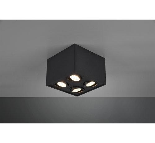 Trio Leuchten Plafondlamp Biscuit 4L - Zwart