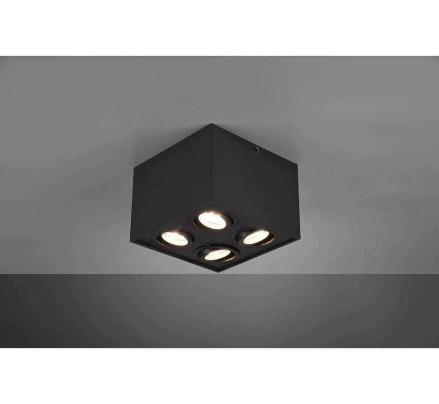 Plafondlamp Biscuit 4L - Zwart