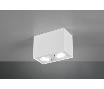 Trio Leuchten Plafondlamp Biscuit 2L - Wit