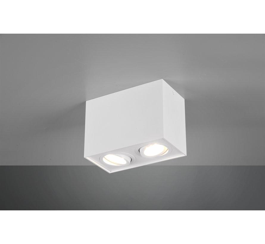 Plafondlamp Biscuit 2L - Wit