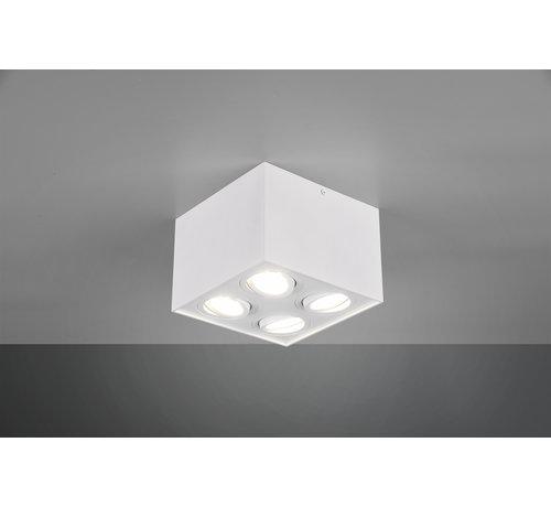 Trio Leuchten Plafondlamp Biscuit 4L - Wit