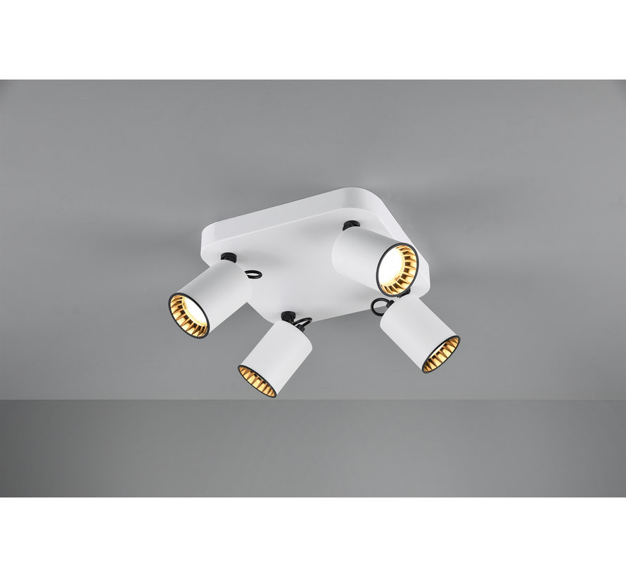 Plafondlamp Pago 4L - Wit