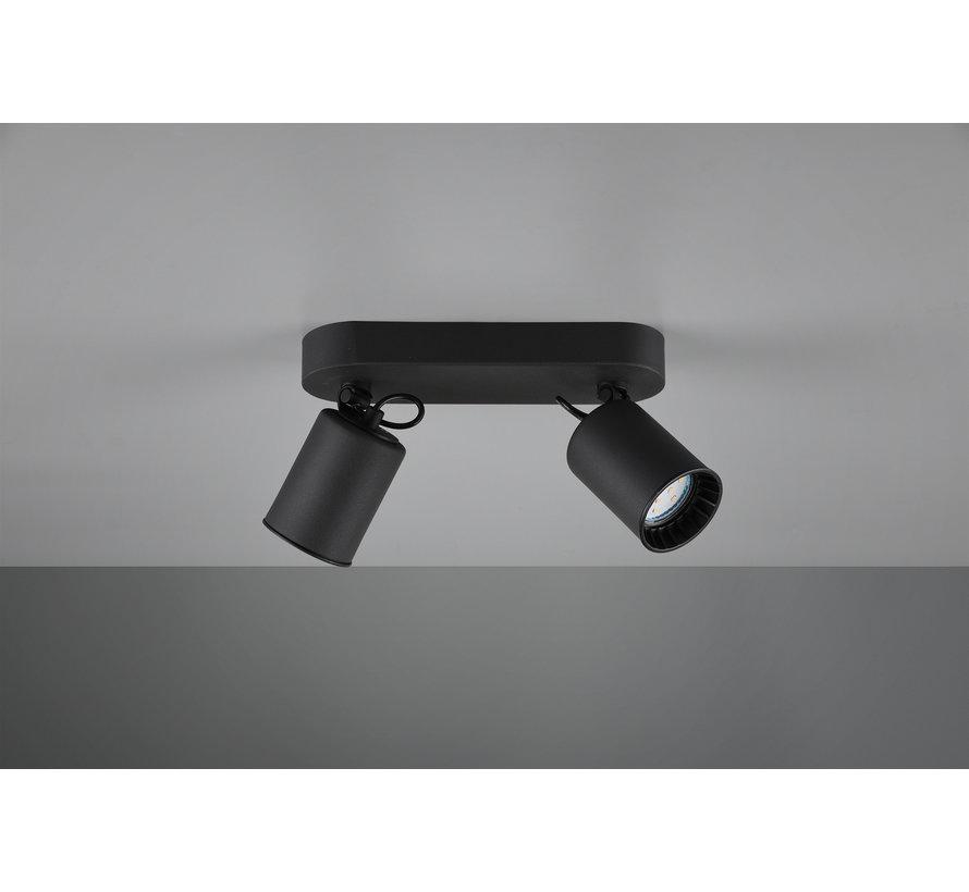 Plafondlamp Pago 2L - Zwart