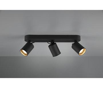 Trio Leuchten Plafondlamp Pago 3L - Zwart