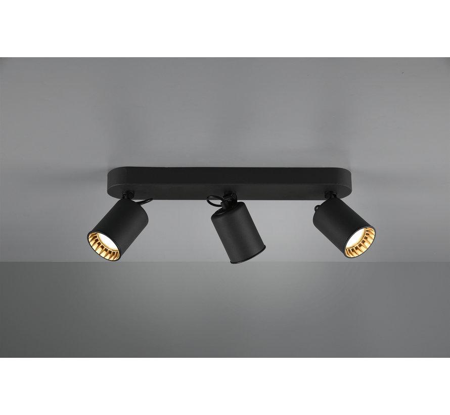 Plafondlamp Pago 3L - Zwart