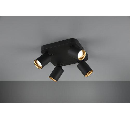 Trio Leuchten Plafondlamp Pago 4L - Zwart