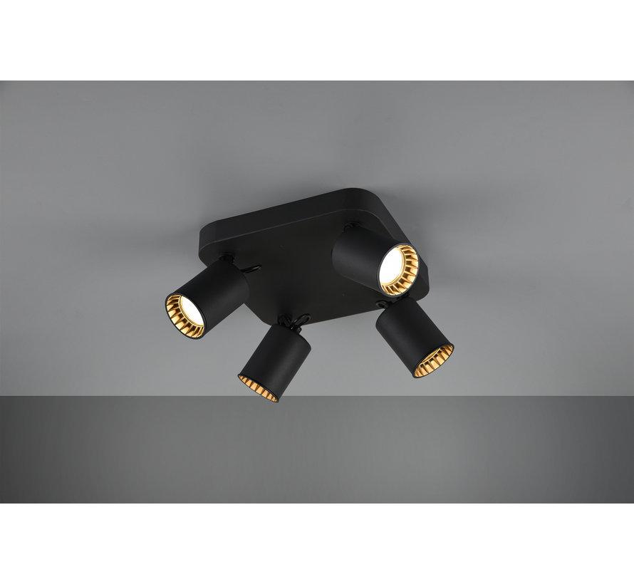 Plafondlamp Pago 4L - Zwart