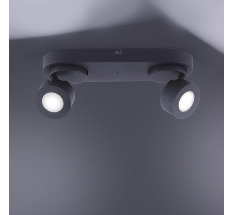 Plafondlamp Sancho 2L - Zwart