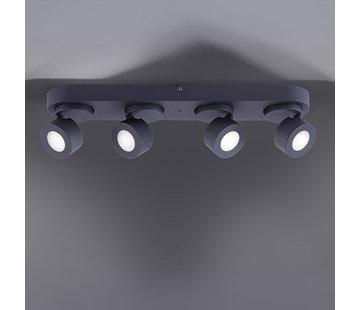 Trio Leuchten Plafondlamp Sancho 4L - Zwart