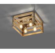 Trio Leuchten Plafondlamp Khan - Brons/Hout