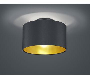 Trio Leuchten Plafondlamp Hostel - Zwart/Goud