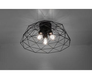 Trio Leuchten Plafondlamp Haval Ø45cm - Zwart