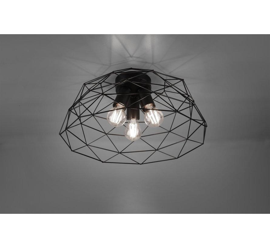 Plafondlamp Haval Ø45cm - Zwart